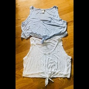 H&M Knotted Sleeveless Cropped Tees (2)
